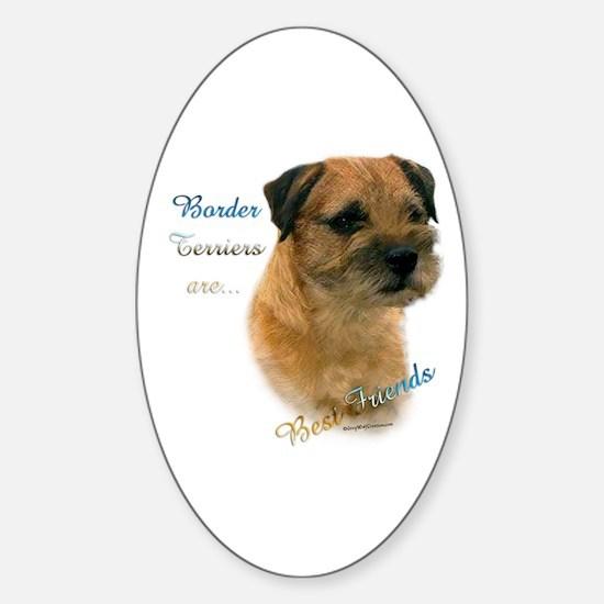 Border Terrier Best Friend1 Oval Decal