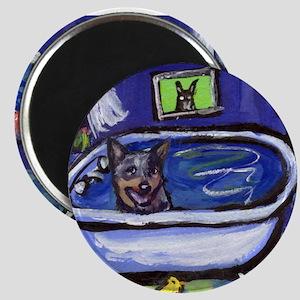 AUSTRALIAN CATTLE DOG BATH Magnet