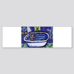 AUSTRALIAN CATTLE DOG BATH Bumper Sticker