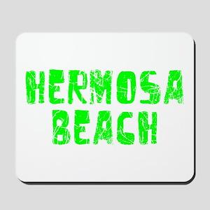 Hermosa Beach Faded (Green) Mousepad
