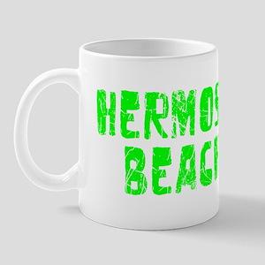 Hermosa Beach Faded (Green) Mug