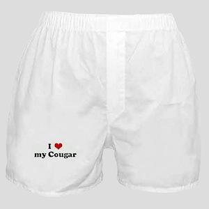 I Love my Cougar Boxer Shorts