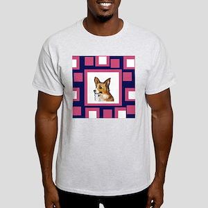 CORGI pink pop design Ash Grey T-Shirt