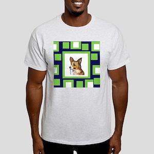 CORGI GREEN pop design Ash Grey T-Shirt