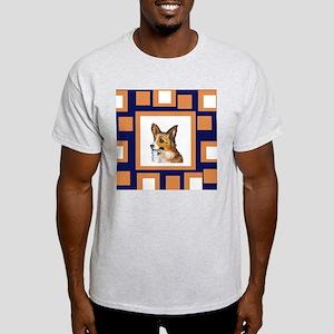 CORGI Orange Pop Design Ash Grey T-Shirt