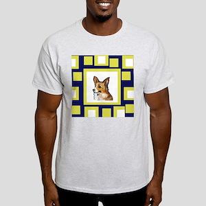 CORGI yellow pop design Ash Grey T-Shirt