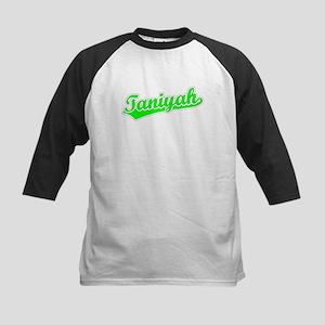 Retro Taniyah (Green) Kids Baseball Jersey
