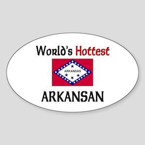World's Hottest Arkansan Oval Sticker