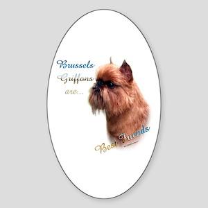 Brussels Best Friend1 Oval Sticker