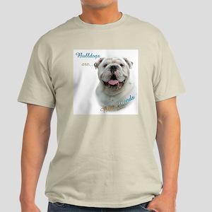 Bulldog Best Friend1 Light T-Shirt