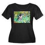 Irises / Miniature Schnauzer Women's Plus Size Sco