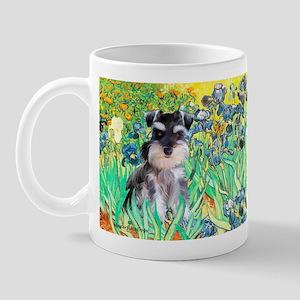 Irises / Miniature Schnauzer Mug