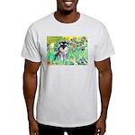 Irises / Miniature Schnauzer Light T-Shirt