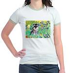 Irises / Miniature Schnauzer Jr. Ringer T-Shirt