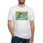 Irises / Miniature Schnauzer Fitted T-Shirt