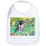Irises / Miniature Schnauzer Bib