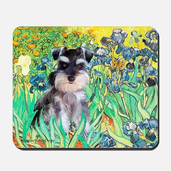 Irises / Miniature Schnauzer Mousepad