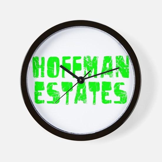 Hoffman Esta.. Faded (Green) Wall Clock
