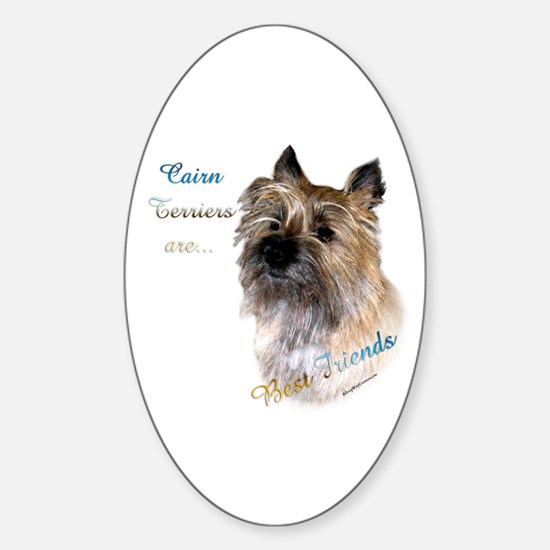 Cairn Best Friend1 Oval Decal