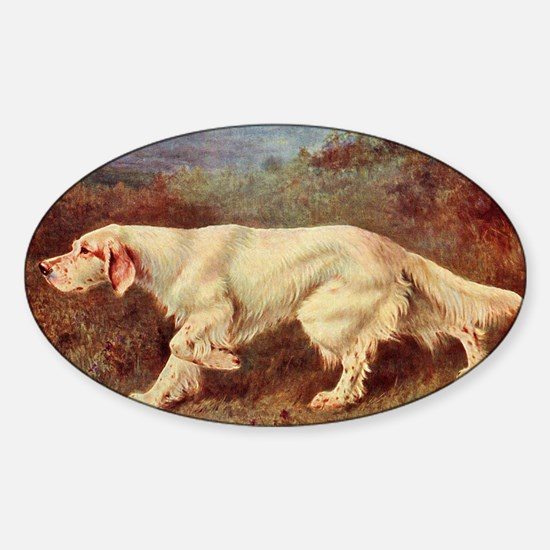 English Setter Watercolor Decal