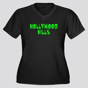 Hollywood Hi.. Faded (Green) Women's Plus Size V-N