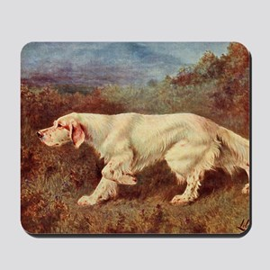 English Setter Watercolor Mousepad