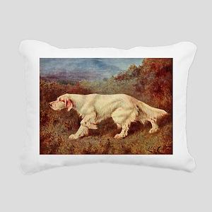 English Setter Watercolo Rectangular Canvas Pillow