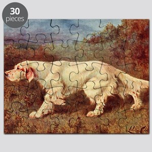 English Setter Watercolor Puzzle