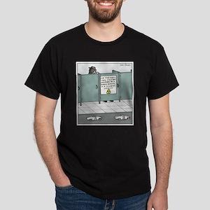 Discreet Surveillance Privacy Cartoon Dark T-Shirt