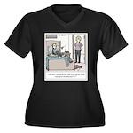 Old Fashione Women's Plus Size V-Neck Dark T-Shirt