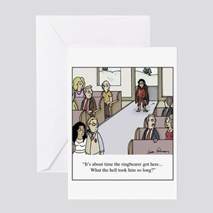 The Ringbearer Wedding Cartoon Greeting Cards