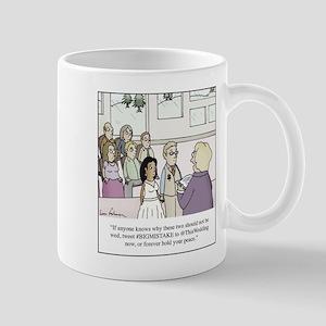 Modern Wedding Ceremony Tweeting Cartoon Mugs