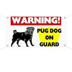 Pug On Guard Banner