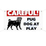 Pug At Play Banner