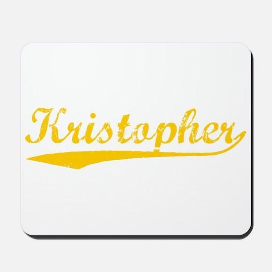 Vintage Kristopher (Orange) Mousepad