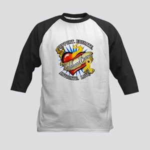 CC Heart Tattoo Kids Baseball Jersey