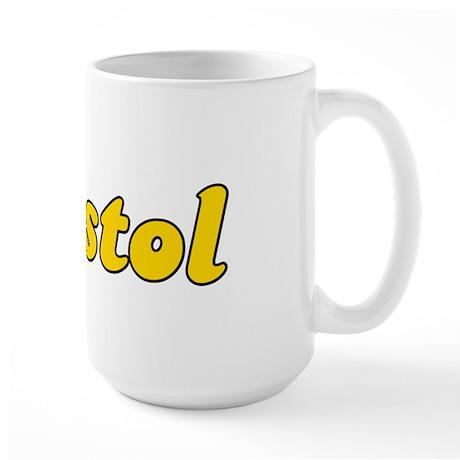 Retro Bristol (Gold) Large Mug
