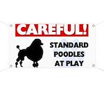 Standard Poodles At Play Banner