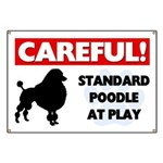 Standard Poodle At Play Banner