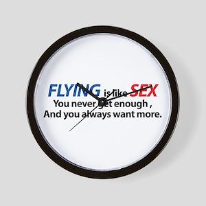 Flying is like Sex Wall Clock