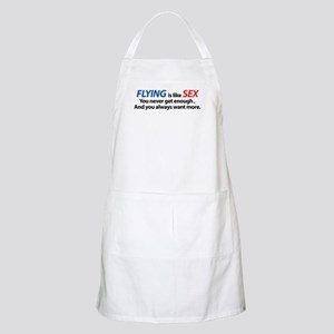 Flying is like Sex BBQ Apron