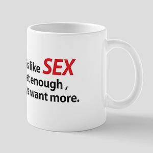Flying is like Sex Mug
