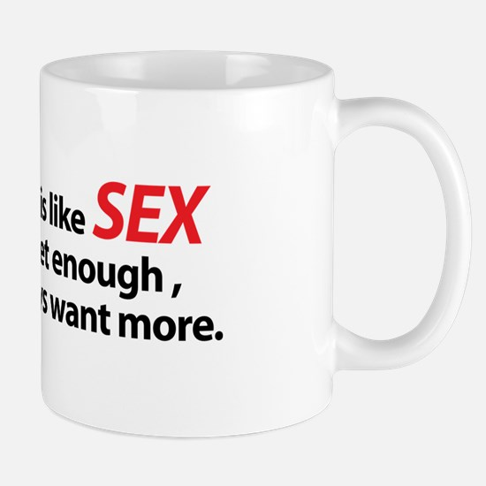 Flying is like Sex Mug