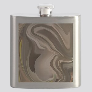 Sweet Love an abstract art piece of a pregna Flask