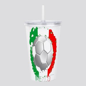 Mexican Soccer Dragon Acrylic Double-wall Tumbler