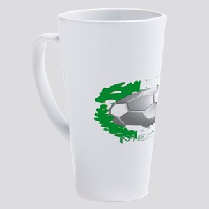 Mexican Soccer Dragon 17 oz Latte Mug