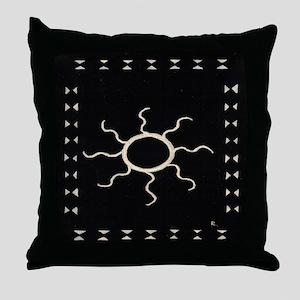 Sun on Black - Throw Pillow