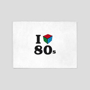 i love 80s 5'x7'Area Rug