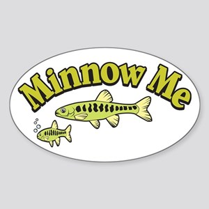 Mini Me Pun Oval Sticker