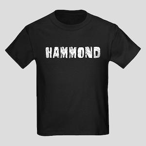 Hammond Faded (Silver) Kids Dark T-Shirt